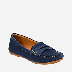 Doraville Nest Navy Nubuck womens-wide-fit-flats
