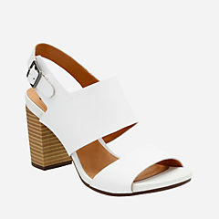 Banoy Tulia White Leather womens-sandals