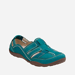 Haley Stork Teal Nubuck womens-active