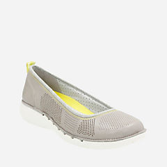 Un Elita Grey Leather womens-flats