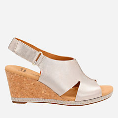 Helio Float4 Pewter Metallic Leather womens-wedges