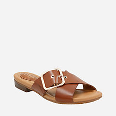 Viveca Gwen Nutmeg Leather womens-sandals