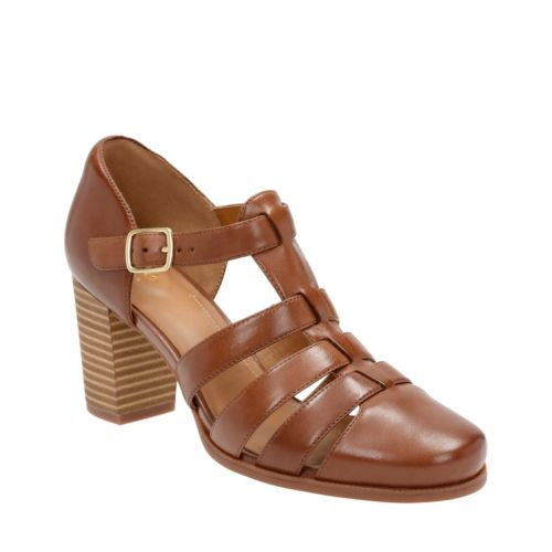 Ciera Gull Nutmeg Leather womens-heels