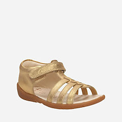 Kiani Glo First Gold Leather girls-sandals