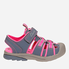 Beach Tide First Grey Combi girls-sandals