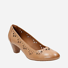 Denny Dazzle Beige Leather womens-heels