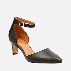 Crewso Reading Black Leather womens-heels