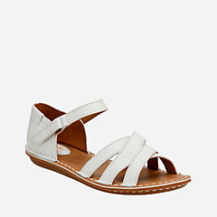 Tustin Sahara Off White Leather womens-sandals