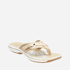 Breeze Mila Gold Metallic Synthetic womens-flip-flops-sandals