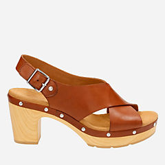Ledella Club Nutmeg Leather womens-sandals-heels