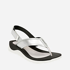 Caval Kora Silver Leather womens-sandals-sport