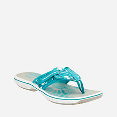 Brinkley Jazz Teal Camo Synthetic womens-sandals