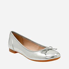 Couture Bloom Silver womens-flats