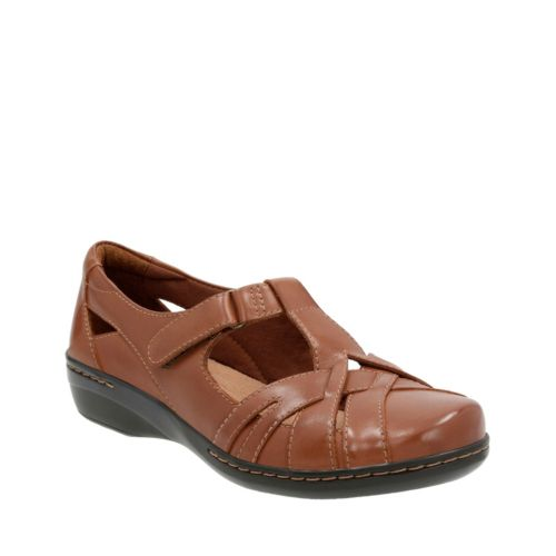 Evianna Doyle Tan Leather womens-casual-shoes