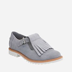 Griffin Mia Grey Blue Suede womens-casual-shoes