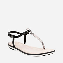 Seattle Spice Black Snake Combi womens-sandals