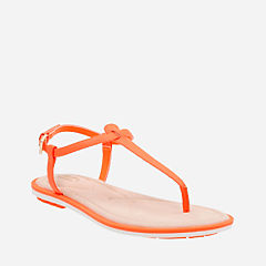 Seattle Spice Bright Orange Leather womens-sandals