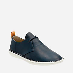 Tamho Edge Navy Leather mens-casual-shoes
