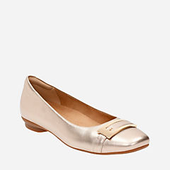 Candra Glare Gold Metallic Leather womens-flats