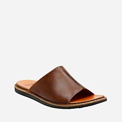 Lynton Slide Tan Leather mens-sandals