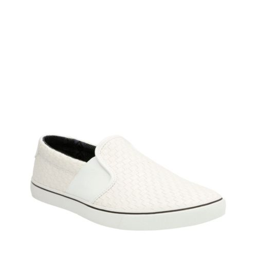 Gosling Step White Fabric mens-casual-shoes