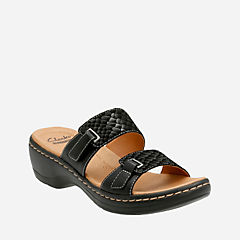 Hayla Andi Black Suede/Leather Combo womens-sandals