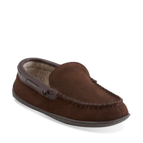 Raymend Burch Brown mens-slippers