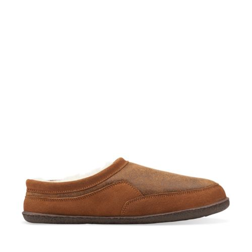 Augusto Deon Clog Slipper Brown mens-slippers