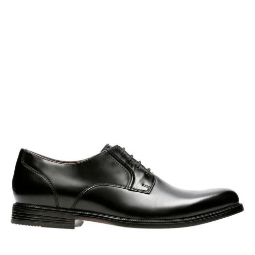 Kinnon Plain Black Leather mens-dress-shoes