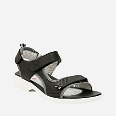 Un Neema Black Leather womens-perf-shoes