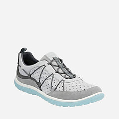 Aria Flyer Light Grey Leather womens-active
