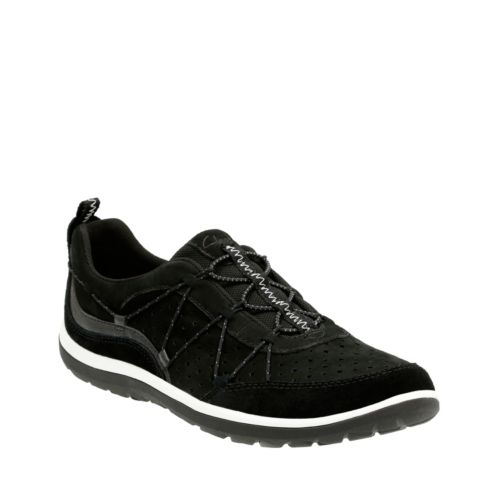 Aria Flyer Black Leather womens-active
