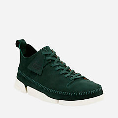 Trigenic Flex Dark Green Suede originals-mens-shoes