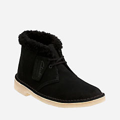 Women's Desert Boot Black Suede Warm Lined originals-womens-desert-boots