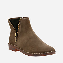 Cabaret Ruby khaki Suede womens-ankle-boots