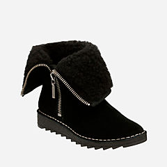 Olso Beth Black Suede womens-ankle-boots