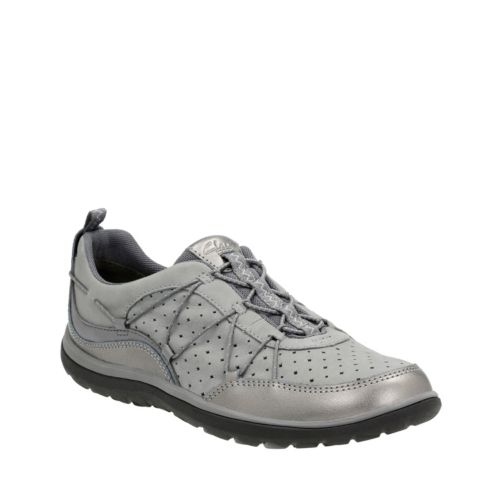 Aria Flyer Pewter Leather womens-active