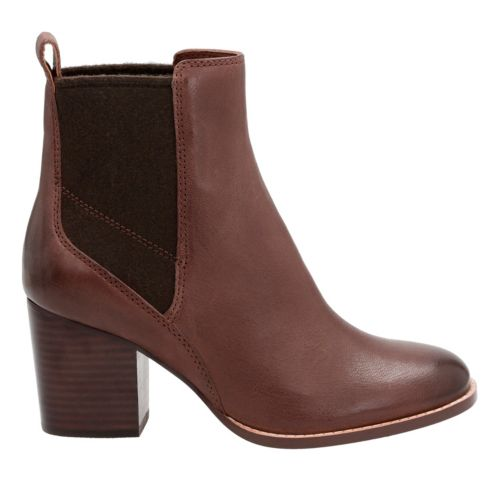 Othea Ruby Dark tan Leather womens-ankle-boots