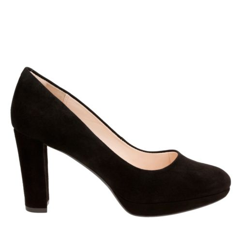 Retro & Vintage Style Shoes Kendra Sienna In Black Suede $110.00 AT vintagedancer.com