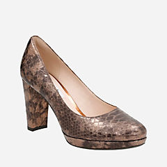Kendra Sienna Bronze Snake Leather womens-heels