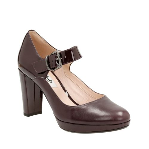 Kendra Gaby Aubergine Leather womens-heels