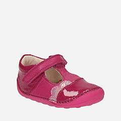Little Caz Baby Pink Leather girls