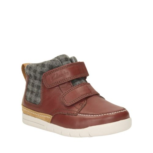 Crazy Ben First  Brown Leather boys-shoes