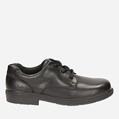 Deaton Lace Youth Black Leather boys-junior