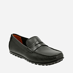 Hamilton Way Black Leather mens-loafer-slip-on