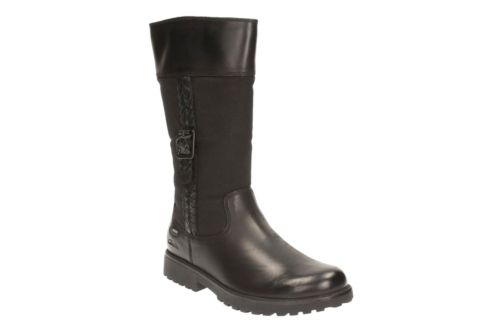 Rhea Go GTX Youth Black Leather girls-boots