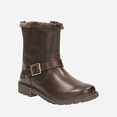 Ines Remi Toddler Brown Leather girls-boots