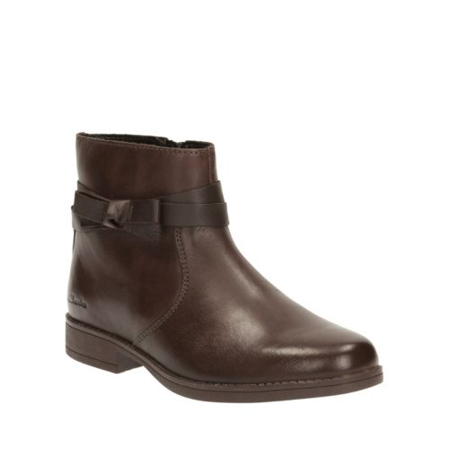 Sami Fluff Toddler Brown Leather girls-boots