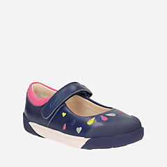 Lil Folk Peg Toddler Navy Leather girls-toddler