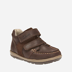 Softly Doc First Dark Brown Lea boys-shoes